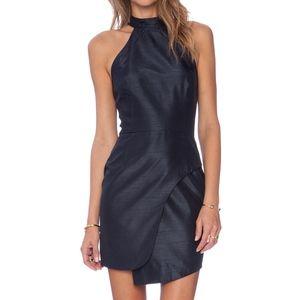 Keepsake Tessellate Midnight Mock Neck Mini Dress